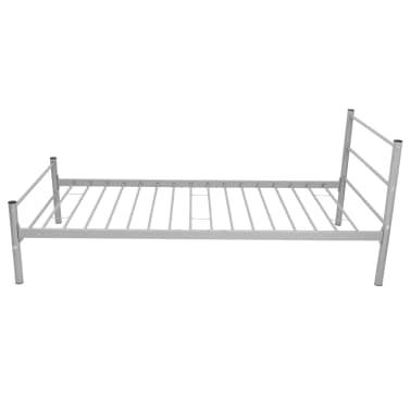 vidaXL Kovový rám postele, šedý, 90x200 cm[4/7]