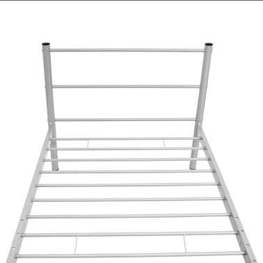vidaXL Kovový rám postele, šedý, 90x200 cm[5/7]