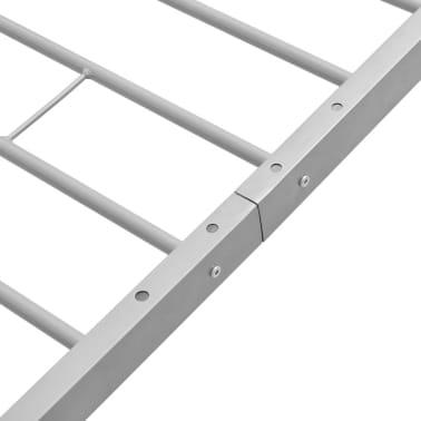 vidaXL Kovový rám postele, šedý, 90x200 cm[6/7]