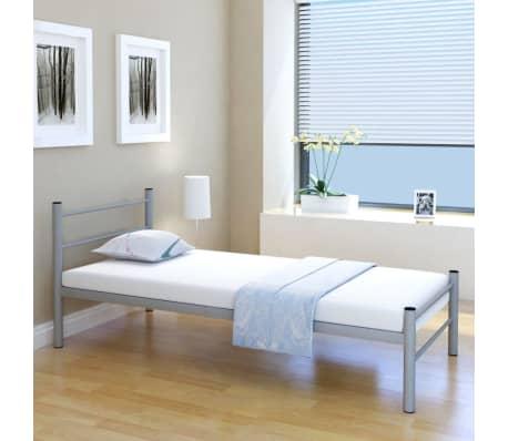 vidaXL Kovový rám postele, šedý, 90x200 cm[1/7]