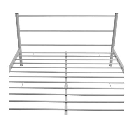 vidaXL Bedframe grijs 140x200 cm metaal[5/8]