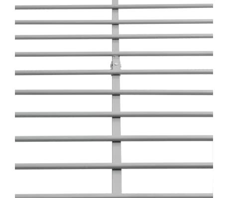 vidaXL Bedframe grijs 140x200 cm metaal[6/8]