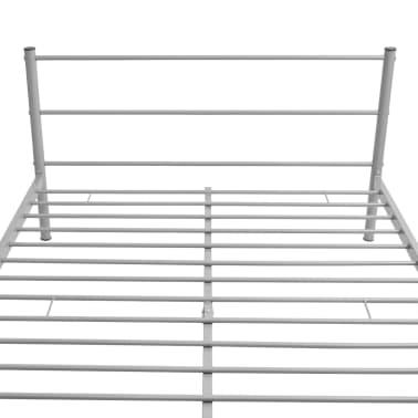 vidaXL Bedframe metaal grijs 140x200 cm[5/8]