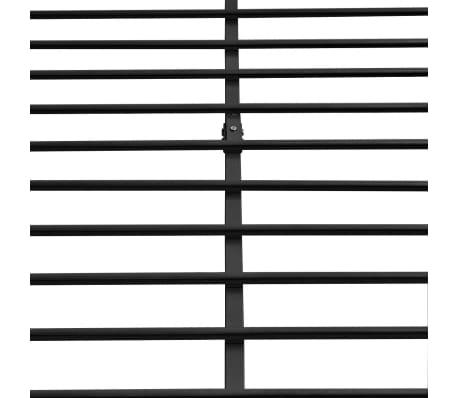 vidaXL Bedframe zwart 140x200 cm metaal[6/8]