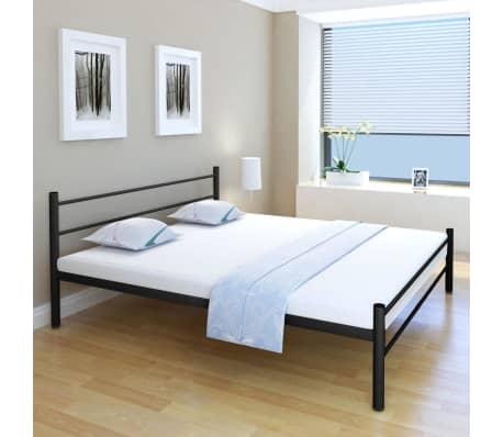 vidaxl bettrahmen metall schwarz 180x200 cm g nstig kaufen. Black Bedroom Furniture Sets. Home Design Ideas