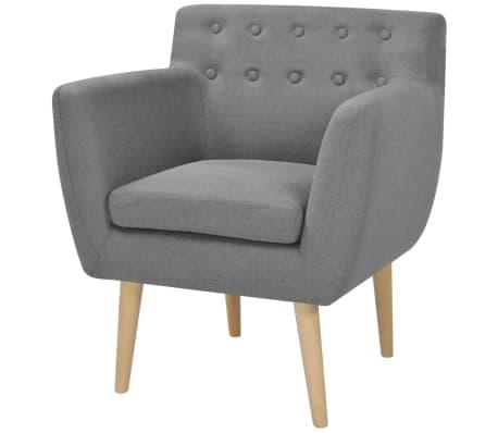 vidaXL Fotelja od tkanine svjetlosiva