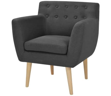 vidaXL Armchair Fabric 67x59x77 cm Dark Grey[1/5]