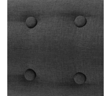 vidaXL Armchair Fabric 67x59x77 cm Dark Grey[4/5]