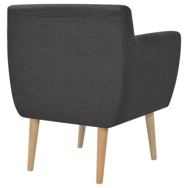 vidaXL Armchair Fabric 67x59x77 cm Dark Grey[3/5]