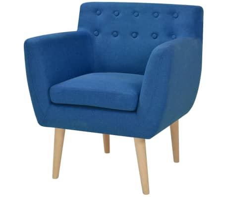 vidaXL Armchair Blue Fabric