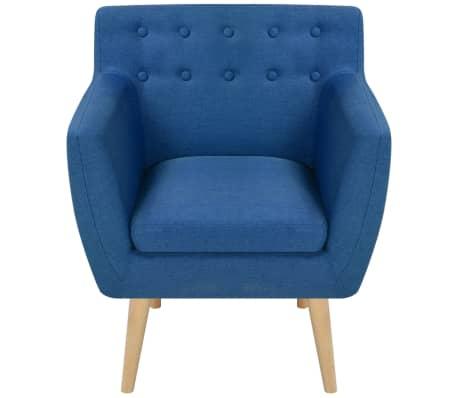 vidaXL Krėslas, audinys, 67x59x77cm, mėlynas[2/5]