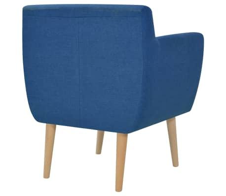 vidaXL Armchair Fabric 67x59x77 cm Blue[3/5]