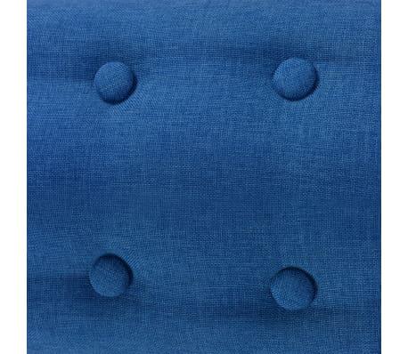 vidaXL Armchair Fabric 67x59x77 cm Blue[4/5]