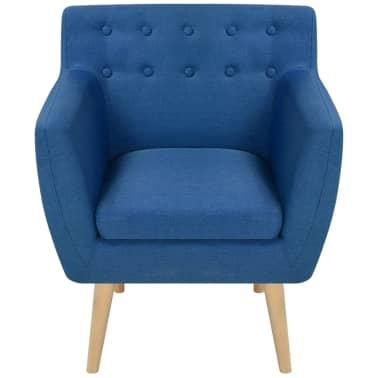 vidaXL Armchair Fabric 67x59x77 cm Blue[2/5]