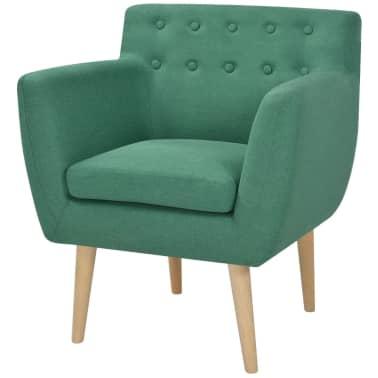 vidaXL Armchair Green Fabric[1/5]