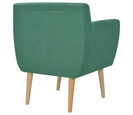 vidaXL Armchair Green Fabric[3/5]