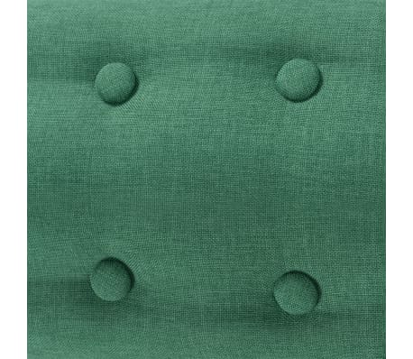 vidaXL Armchair Green Fabric[4/5]