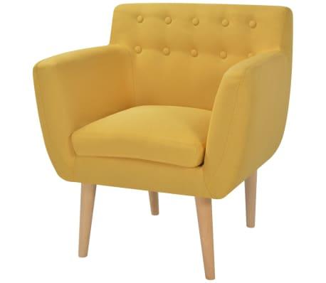 vidaXL Armchair Yellow Fabric