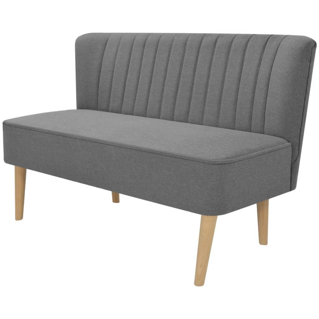 vidaXL Sofa 117x55,5x77 cm, jasnozielony materiał