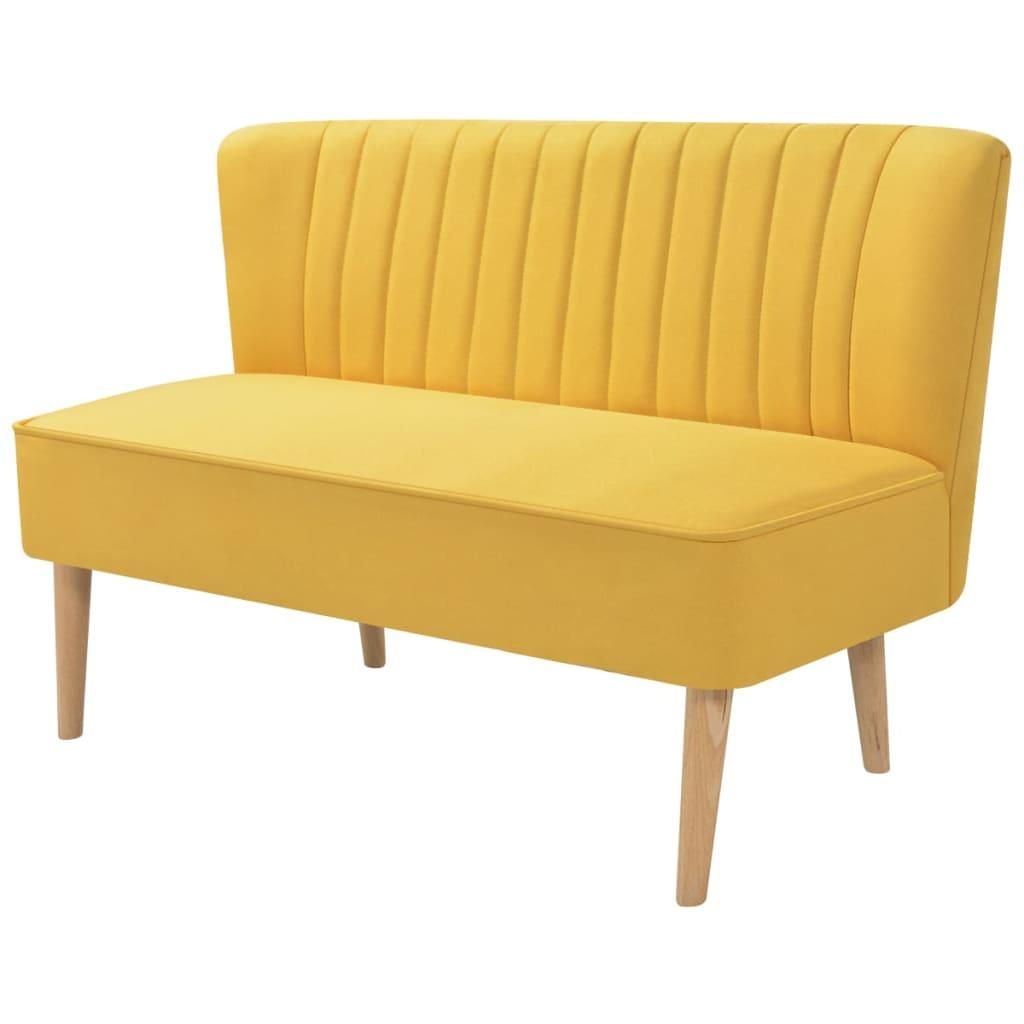 vidaXL Sofa 117x55,5x77 cm, żółty materiał