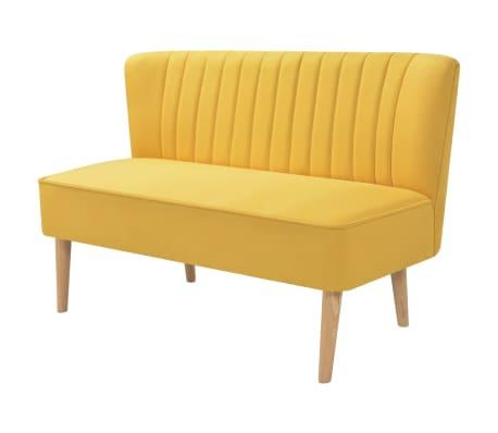 vidaXL auduma dīvāns, 117x55,5x77 cm, dzeltens