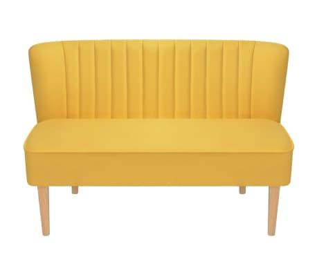 vidaXL Sofá de tela 117x55,5x77 cm amarillo[2/4]