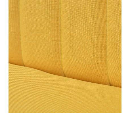 Vidaxl Sofa Fabric 117x55 5x77 Cm Yellow
