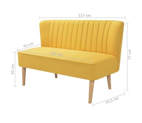 vidaXL Sofá de tela 117x55,5x77 cm amarillo[4/4]