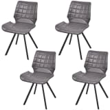 vidaXL Dining Chairs 4 pcs Artificial Leather Gray