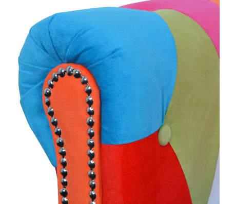 vidaXL Chesterfield Sofa 2-Seater Fabric[3/4]
