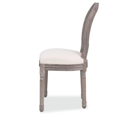 vidaXL Valgomojo kėdės, 2 vnt., linas ir ratanas[4/7]