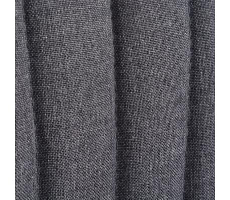 vidaXL Kokteilinė kėdė su kėdute, audinys, tamsiai pilka[8/10]