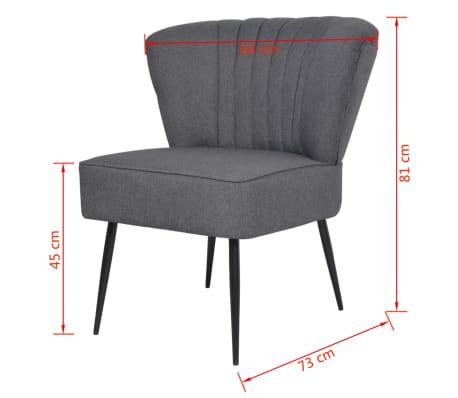 vidaXL Kokteilinė kėdė su kėdute, audinys, tamsiai pilka[9/10]