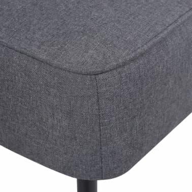 vidaXL Kokteilinė kėdė su kėdute, audinys, tamsiai pilka[7/10]