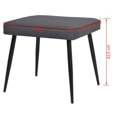 vidaXL Kokteilinė kėdė su kėdute, audinys, tamsiai pilka[10/10]