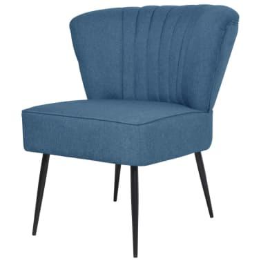 vidaXL avec pied de Chaise repose Tissu Bleu cocktail rBCexWEQdo