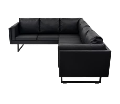 vidaxl ecksofa kunstleder schwarz g nstig kaufen. Black Bedroom Furniture Sets. Home Design Ideas