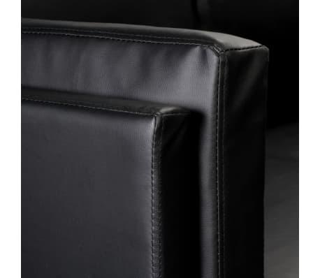 vidaXL Hoekbank kunstleer zwart[7/8]