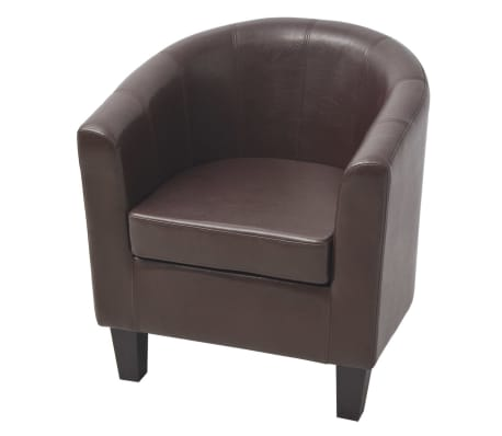 vidaXL Armchair Brown Faux Leather[2/7]