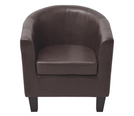 vidaXL Armchair Brown Faux Leather[3/7]