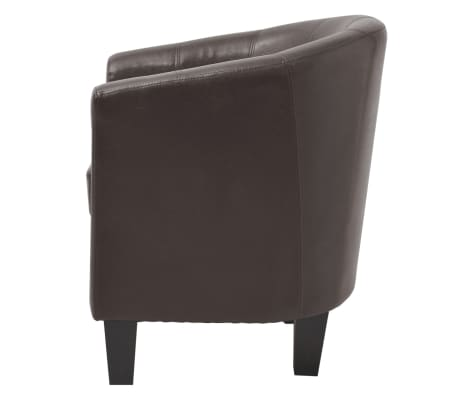 vidaXL Armchair Brown Faux Leather[4/7]