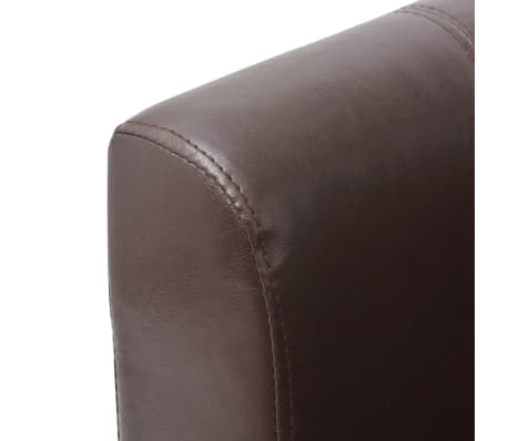 vidaXL Armchair Brown Faux Leather[5/7]