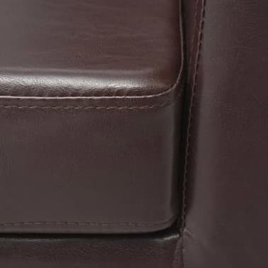 vidaXL Armchair Brown Faux Leather[6/7]