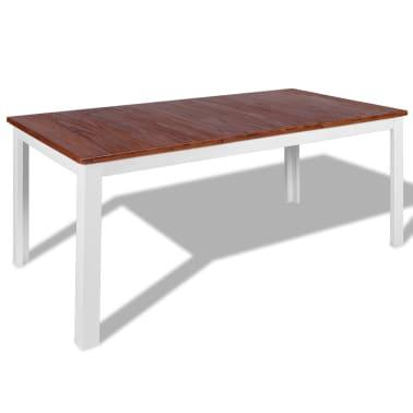vidaxl essgruppe 7 tlg massivholz teak mahagoni g nstig kaufen. Black Bedroom Furniture Sets. Home Design Ideas