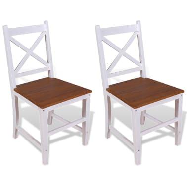 vidaXL Καρέκλες Τραπεζαρίας 2 τεμ. από Μασίφ Ξύλο Teak και Μαόνι[1/8]