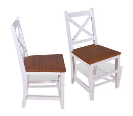 vidaXL Καρέκλες Τραπεζαρίας 2 τεμ. από Μασίφ Ξύλο Teak και Μαόνι[2/8]