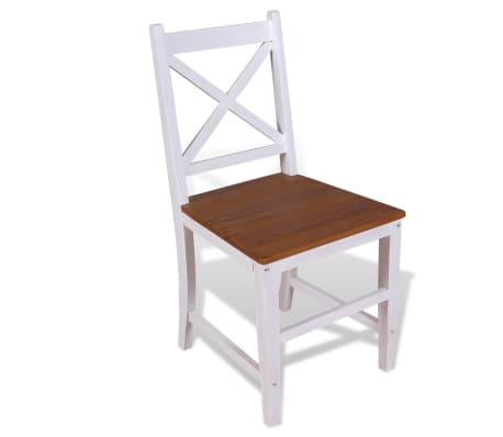 vidaXL Трапезни столове, 2 бр, тиково дърво и махагон масив[3/8]