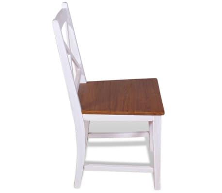 vidaXL Трапезни столове, 2 бр, тиково дърво и махагон масив[5/8]