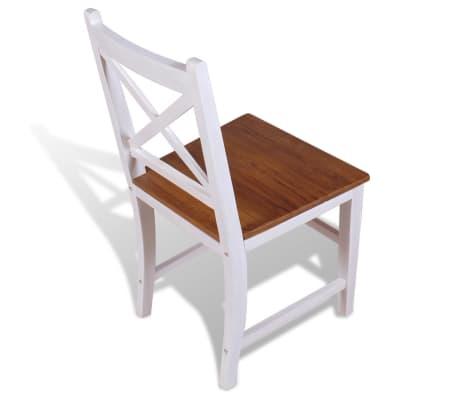 vidaXL Трапезни столове, 2 бр, тиково дърво и махагон масив[6/8]