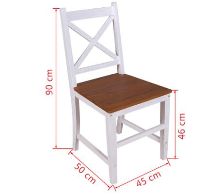 vidaXL Καρέκλες Τραπεζαρίας 2 τεμ. από Μασίφ Ξύλο Teak και Μαόνι[8/8]